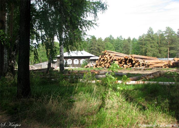 Домик сторожа на Глубоченском пруду. Фото Карпова С.О., май 2012 г.