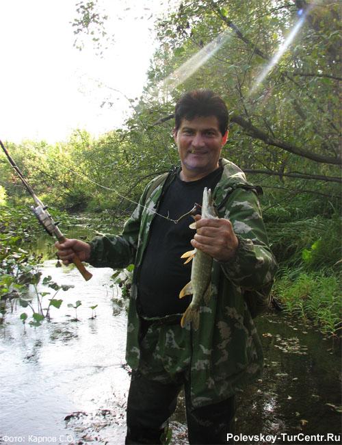 Рыбалка на реке Западной Чусовой в окрестностях южной части города Полевского. Фото Карпов С.О., 2011 г.