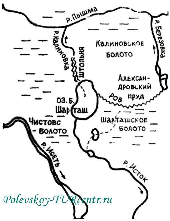 Карта реки Пышма. Источник